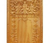 Đốc lịch gỗ đục Phúc Lộc Thọ